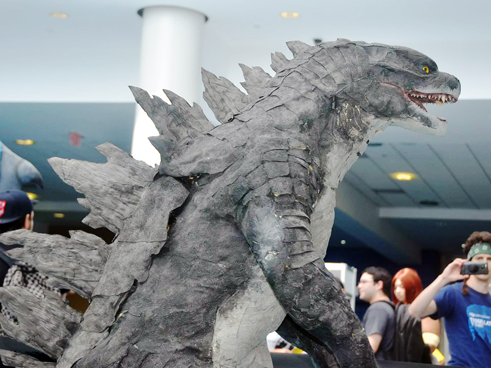 Completed Costume – Becoming Godzilla